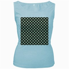 CIR3 BK-MRBL BG-LIN (R) Women s Baby Blue Tank Top