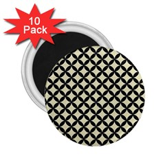 CIR3 BK-MRBL BG-LIN (R) 2.25  Magnets (10 pack)