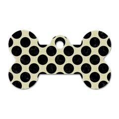 CIR2 BK-MRBL BG-LIN (R) Dog Tag Bone (One Side)