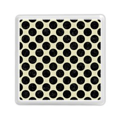 Circles2 Black Marble & Beige Linen (r) Memory Card Reader (square)
