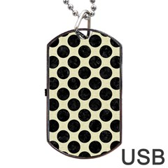 CIR2 BK-MRBL BG-LIN (R) Dog Tag USB Flash (One Side)