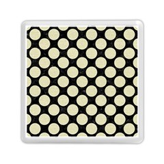 Circles2 Black Marble & Beige Linen Memory Card Reader (square)