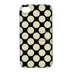 CIR2 BK-MRBL BG-LIN Apple iPhone 4/4S Hardshell Case with Stand