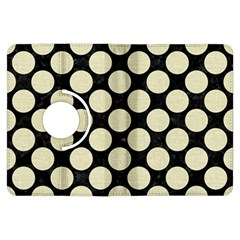 Circles2 Black Marble & Beige Linen Kindle Fire Hdx Flip 360 Case