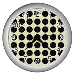 CIR1 BK-MRBL BG-LIN (R) Wall Clocks (Silver)