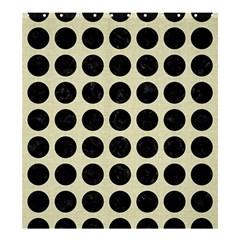 CIR1 BK-MRBL BG-LIN (R) Shower Curtain 66  x 72  (Large)