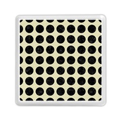 Circles1 Black Marble & Beige Linen (r) Memory Card Reader (square)
