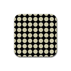 CIR1 BK-MRBL BG-LIN Rubber Square Coaster (4 pack)