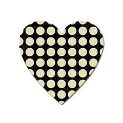 CIR1 BK-MRBL BG-LIN Heart Magnet