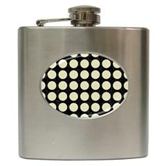 CIR1 BK-MRBL BG-LIN Hip Flask (6 oz)