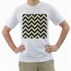 CHV9 BK-MRBL BG-LIN (R) Men s T-Shirt (White) (Two Sided)