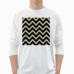 CHV9 BK-MRBL BG-LIN White Long Sleeve T-Shirts