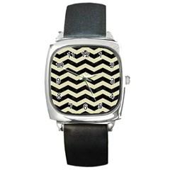 CHV3 BK-MRBL BG-LIN Square Metal Watch