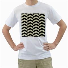 CHV2 BK-MRBL BG-LIN Men s T-Shirt (White) (Two Sided)