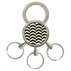 CHV2 BK-MRBL BG-LIN 3-Ring Key Chains