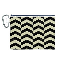 CHV2 BK-MRBL BG-LIN Canvas Cosmetic Bag (L)