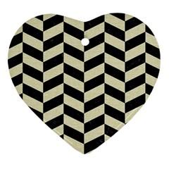 CHV1 BK-MRBL BG-LIN Heart Ornament (Two Sides)