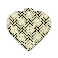 BRK2 BK-MRBL BG-LIN (R) Dog Tag Heart (Two Sides)
