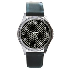 BRK2 BK-MRBL BG-LIN Round Metal Watch