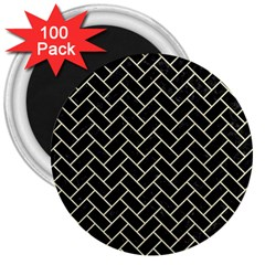 BRK2 BK-MRBL BG-LIN 3  Magnets (100 pack)