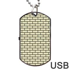BRK1 BK-MRBL BG-LIN (R) Dog Tag USB Flash (One Side)
