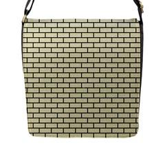 BRK1 BK-MRBL BG-LIN (R) Flap Messenger Bag (L)