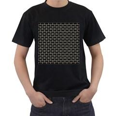 BRK1 BK-MRBL BG-LIN Men s T-Shirt (Black) (Two Sided)