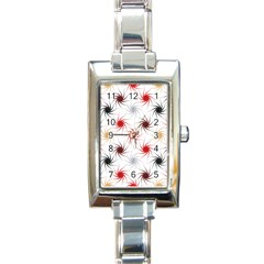 Pearly Pattern Rectangle Italian Charm Watch