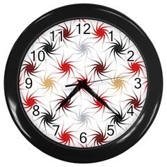 Pearly Pattern Wall Clocks (Black)