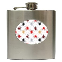 Pearly Pattern Hip Flask (6 oz)
