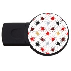 Pearly Pattern USB Flash Drive Round (1 GB)