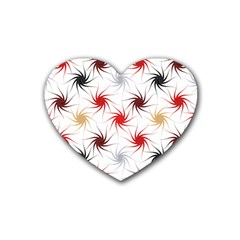 Pearly Pattern Heart Coaster (4 pack)