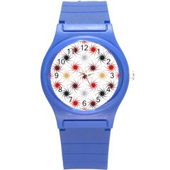Pearly Pattern Round Plastic Sport Watch (S)