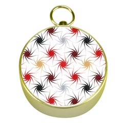 Pearly Pattern Gold Compasses