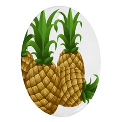 Pineapples Tropical Fruits Foods Ornament (Oval)