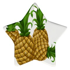 Pineapples Tropical Fruits Foods Ornament (Star)