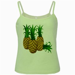 Pineapples Tropical Fruits Foods Green Spaghetti Tank