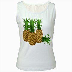 Pineapples Tropical Fruits Foods Women s White Tank Top