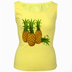 Pineapples Tropical Fruits Foods Women s Yellow Tank Top