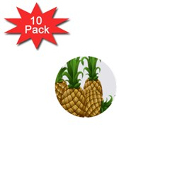 Pineapples Tropical Fruits Foods 1  Mini Buttons (10 Pack)
