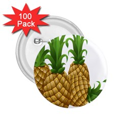 Pineapples Tropical Fruits Foods 2.25  Buttons (100 pack)