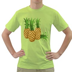 Pineapples Tropical Fruits Foods Green T-Shirt