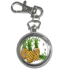 Pineapples Tropical Fruits Foods Key Chain Watches