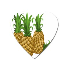 Pineapples Tropical Fruits Foods Heart Magnet