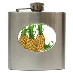 Pineapples Tropical Fruits Foods Hip Flask (6 oz)