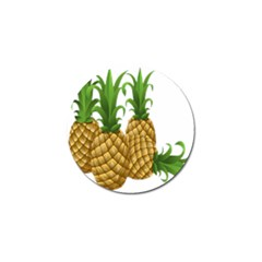 Pineapples Tropical Fruits Foods Golf Ball Marker