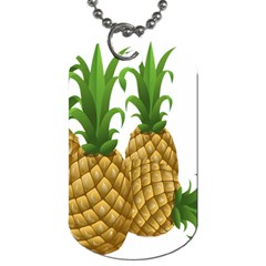 Pineapples Tropical Fruits Foods Dog Tag (Two Sides)