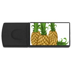 Pineapples Tropical Fruits Foods USB Flash Drive Rectangular (2 GB)
