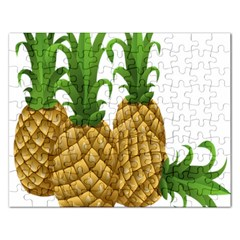 Pineapples Tropical Fruits Foods Rectangular Jigsaw Puzzl