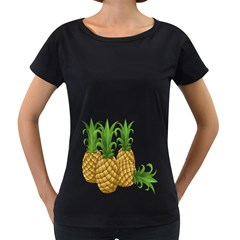 Pineapples Tropical Fruits Foods Women s Loose-Fit T-Shirt (Black)